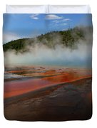 Grand Prismatic Spring Colors Duvet Cover