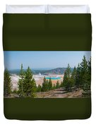 Grand Prismatic Spring Panorama Duvet Cover