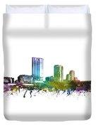 Grand Rapids Cityscape 01 Duvet Cover