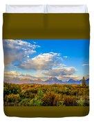 Grand Teton Fall Duvet Cover