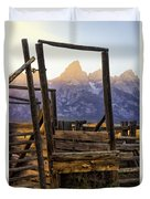 Grand Teton Framed Duvet Cover