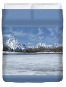 Grand Tetons And Snake River From Oxbow Bend 16-9 Duvet Cover