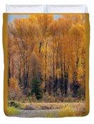 Grand Tetons Fall Duvet Cover
