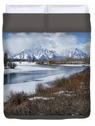 Grand Tetons From Oxbow Bend Duvet Cover