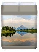 Grand Teton's Reflection Duvet Cover