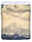 Grand Tetons  Sky Duvet Cover by Suzette Kallen
