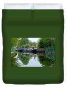 Grand Union Canal Cowley West London Duvet Cover