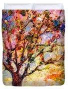 Grandmas Apple Tree Oil Painting Duvet Cover