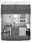 Grandma's Kitchen B W Duvet Cover