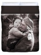 Grandmother And Child Duvet Cover
