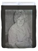 Grandmother's Portrait Duvet Cover