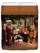 Grandpa And Grandma Teddy Bears' Christmas Eve Duvet Cover