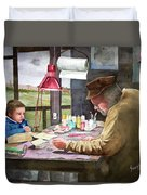 Grandpa's Workbench Duvet Cover by Sam Sidders