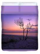 Grandview Beach Sunrise Duvet Cover