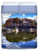 Granite Dells Reflection Duvet Cover