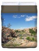 Granite Dells Rocky Terrain  Duvet Cover