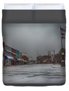 Granite Falls Snow Duvet Cover