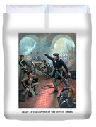 Grant At The Capture Of The City Of Mexico Duvet Cover