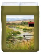 Grants Khors Ranch Vertical Duvet Cover