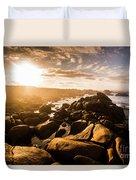 Granville Harbour Tasmania Sunrise Duvet Cover