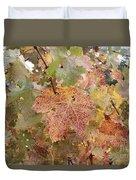Grape Leaves In The Fall Duvet Cover