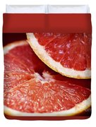 Grapefruit Halves Duvet Cover