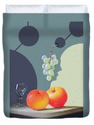 Grapes And Apples Duvet Cover