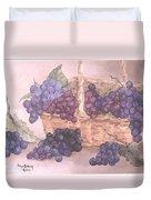Grapes In Basket Duvet Cover
