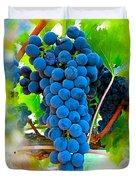 Grapes Of The Vine Duvet Cover