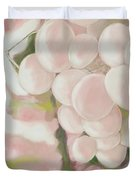 Grapes Powder Pink Duvet Cover