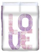 Graphic Art Gold Love - Rose And Violet Duvet Cover