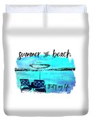 Graphic Art Summer And Beach Duvet Cover