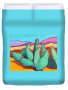 Graphic Cactus Duvet Cover