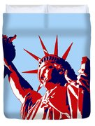 Graphic Statue Of Liberty Red White Blue Duvet Cover