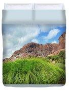 Grass Along John Day River In Central Oregon Duvet Cover