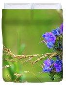 Grass And Flower  Duvet Cover