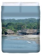 Grass Huts Colombia Duvet Cover
