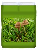 Grass Mushroom Pair           Tubaria Fungii           May           Indiana Duvet Cover