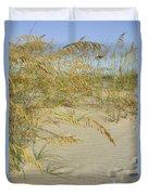 Grass On The Beach Sand Duvet Cover