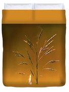 Grass During Sun Set Duvet Cover