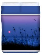Grasses Frame The Setting Sun In Florida Duvet Cover