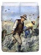 Grasshopper Plague, 1888 Duvet Cover