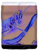 Grasshopper Poster Duvet Cover