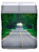 Grassy Lake Road Duvet Cover
