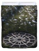 Grassy Manhole Duvet Cover