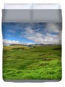 Grassy Meadow South Iceland Duvet Cover