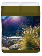 Grassy Sun Rays Duvet Cover
