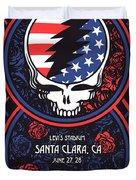 Grateful Dead Santa Clara Ca Duvet Cover