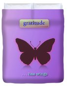 Gratitude Has Wings Duvet Cover