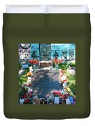 Grave Site At Graceland The Home Of Elvis Presley, Memphis, Tennessee Duvet Cover